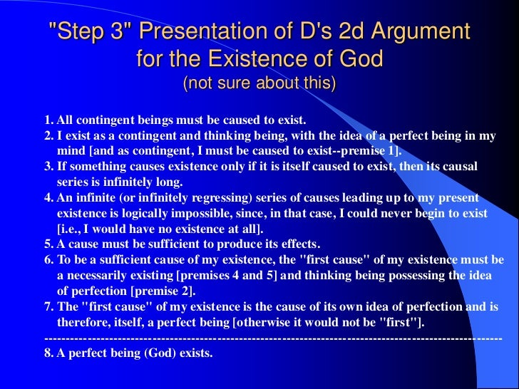 descartes argument for the existence of the material world