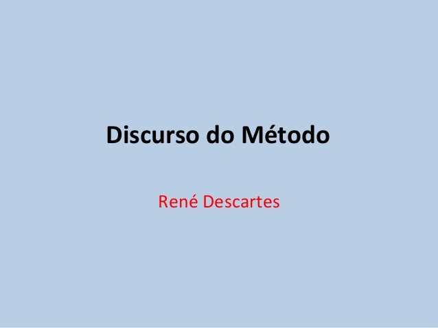 Discurso do Método René Descartes