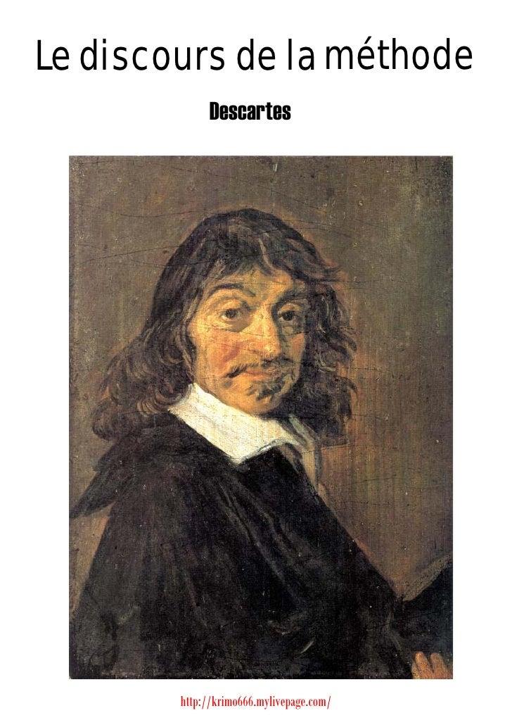 Le discours de la méthode              Descartes             http://krimo666.mylivepage.com/