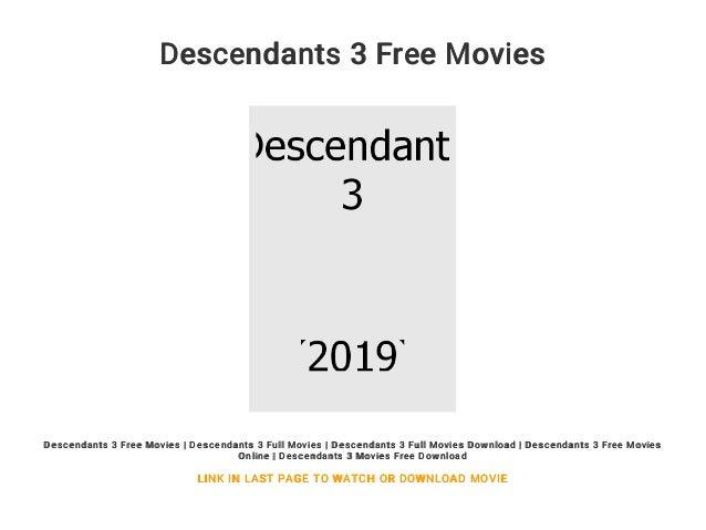 Descendants 3 Free Movies