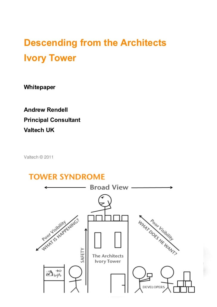 Descending from the ArchitectsIvory TowerWhitepaperAndrew RendellPrincipal ConsultantValtech UKValtech © 2011