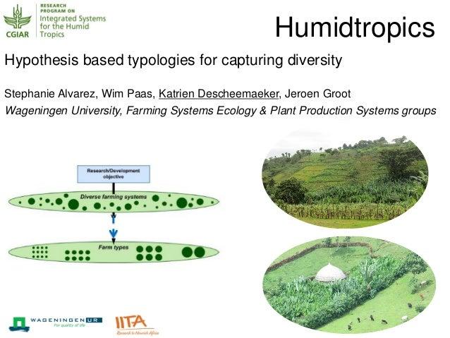 Hypothesis based typologies for capturing diversity Stephanie Alvarez, Wim Paas, Katrien Descheemaeker, Jeroen Groot Wagen...