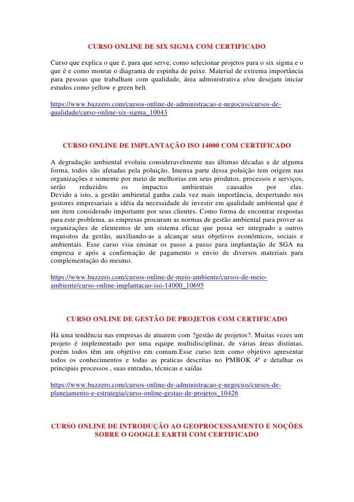 CURSO ONLINE DE SIX SIGMA COM CERTIFICADO<br />Curso que explica o que é, para que serve, como selecionar projetos para o ...