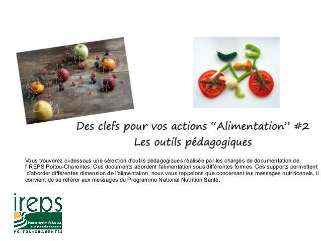 Vous trouverez ci-dessous une sélection d'outils pédagogiques réalisée par les chargés de documentation de l'IREPS Poitou-...