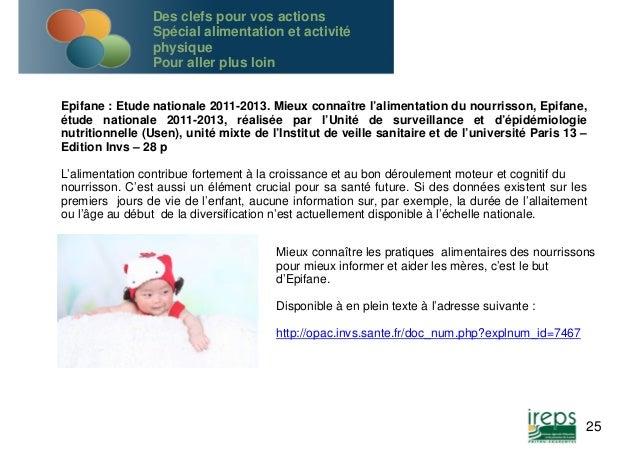 Epifane : Etude nationale 2011-2013. Mieux connaître l'alimentation du nourrisson, Epifane,  étude nationale 2011-2013, ré...