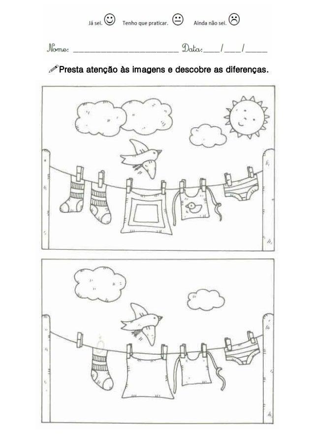 Presta atenção às imagens e descobre as diferenças.