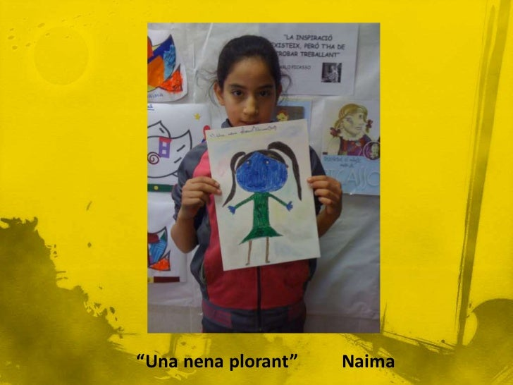 En aquest quadrepodem veure la fillade Picasso (Maia) ambuna nina als braços.Si observem la cara dela Maia, podem veureque...