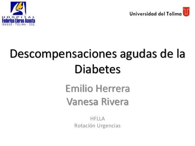 Descompensaciones agudas de la diabetes