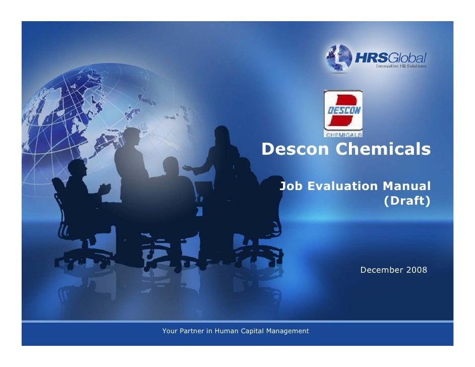 Descon chemicals jobevaluationmannual - copy