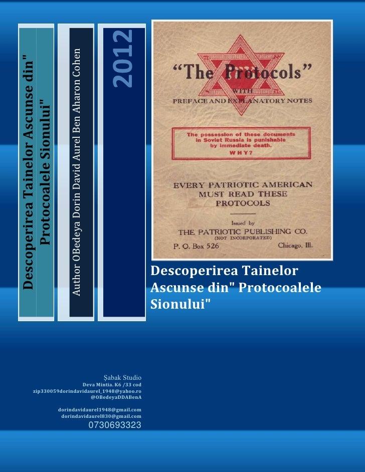 2012                                        Author OBedeya Dorin David Aurel Ben Aharon CohenDescoperirea Tainelor Ascunse...