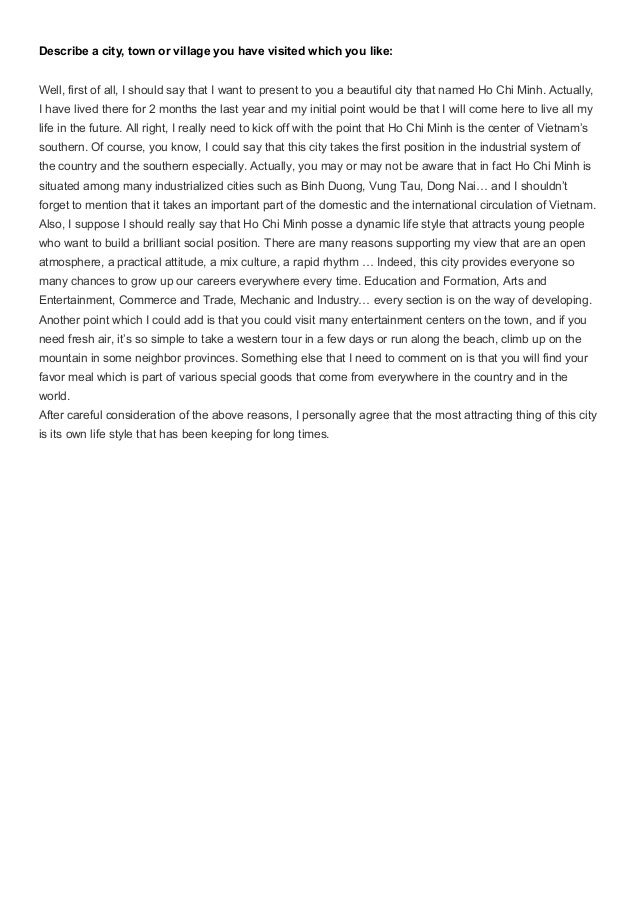 546 words essay on The Most Beautiful Place I Have Seen