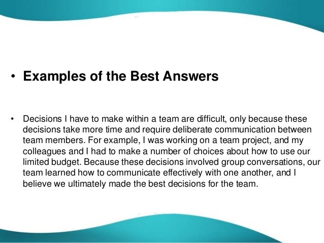 describe a problem situation and how you solved it essay How to answer prompt 4 for the common app for your college application essay prompt 4: describe a problem you've solved or a problem you'd like to solve it can be an intellectual challenge, a research query, an ethical dilemma—anything that is of personal importance, no matter the scale.