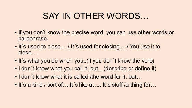 other word for