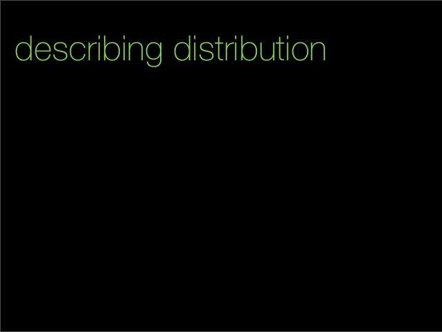 describing distribution