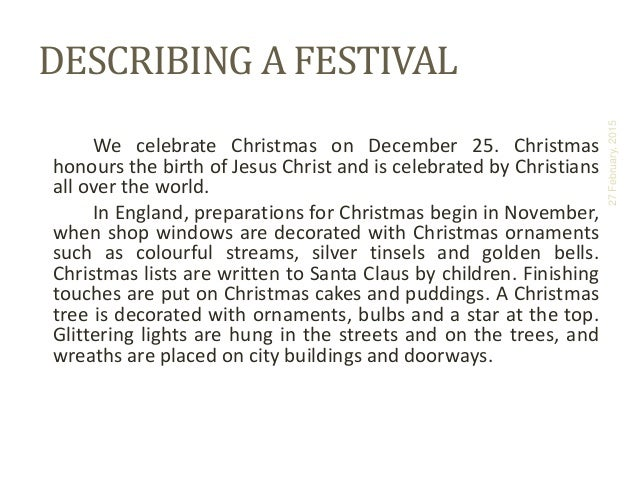 'Christmas Eve in Denmark' - a descriptive story (five-paragraph)