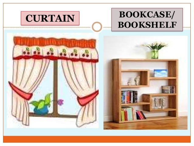 Describing bedroom  CURTAIN BOOKCASE  BOOKSHELF. Describing bedroom