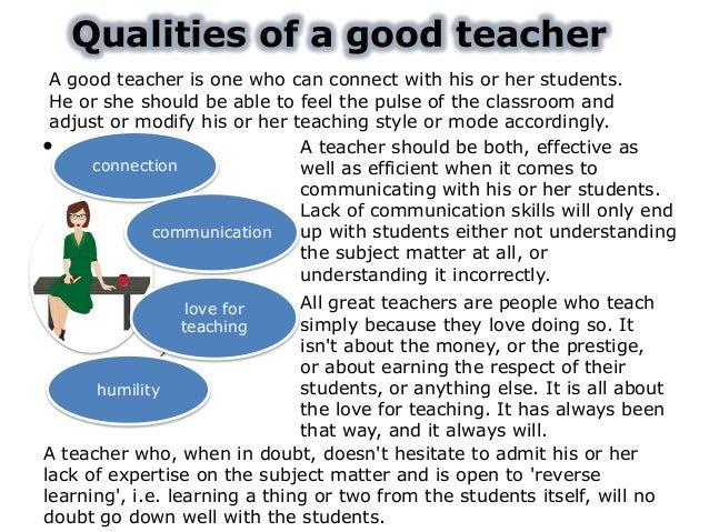 describe a good teacher