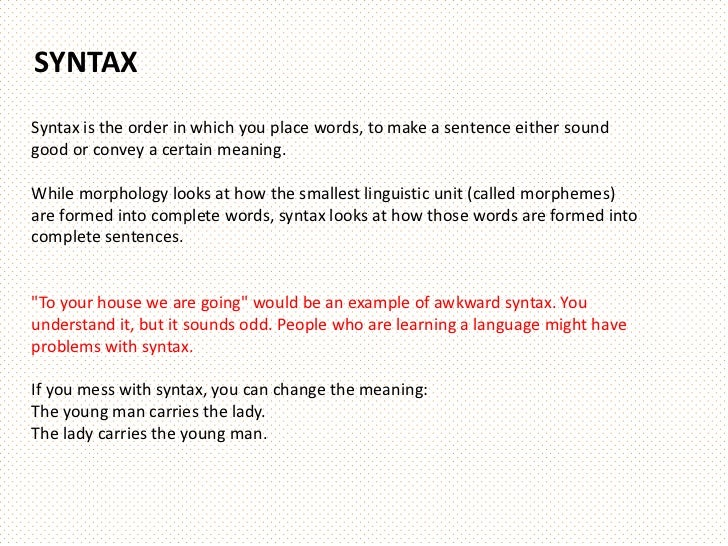 Linguistics: Describing Meaning of Words