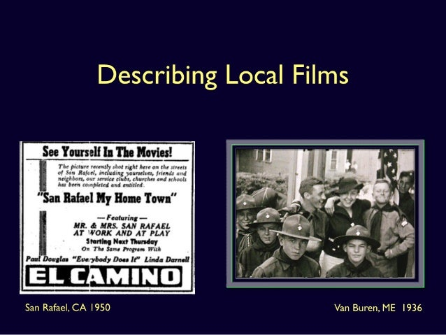 Describing Local Films: New Thoughts on Itinerant Produced Works