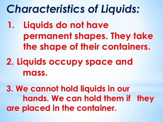 Videos For Kids About Properties Of Liquids