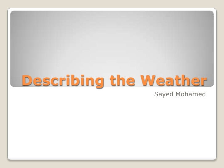 describing weather