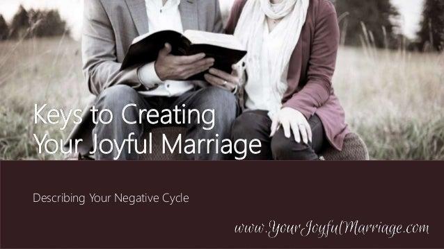 Keys to Creating Your Joyful Marriage Describing Your Negative Cycle