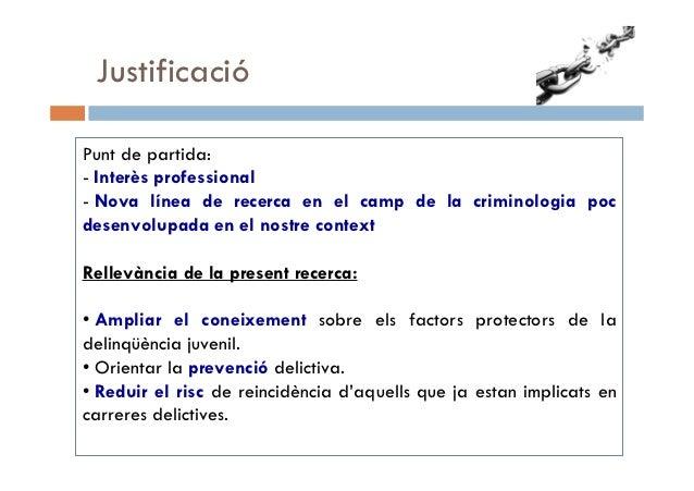 Descripció i anàlisi dels factors protectors d'adolescents en la prevenció del delicte. Cristina Blasco Slide 3