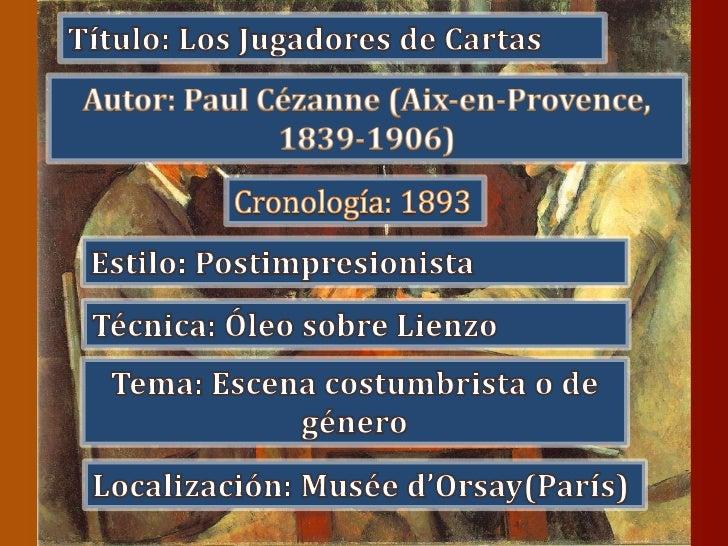 Título: Los Jugadores de Cartas<br />Autor: Paul Cézanne (Aix-en-Provence, 1839-1906)<br />Cronología: 1893<br />Estilo: P...