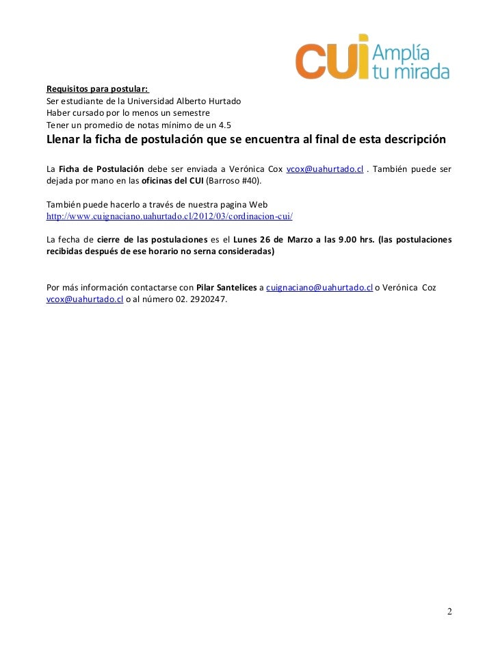Descripci 243 N Cargo Coordinador 2012