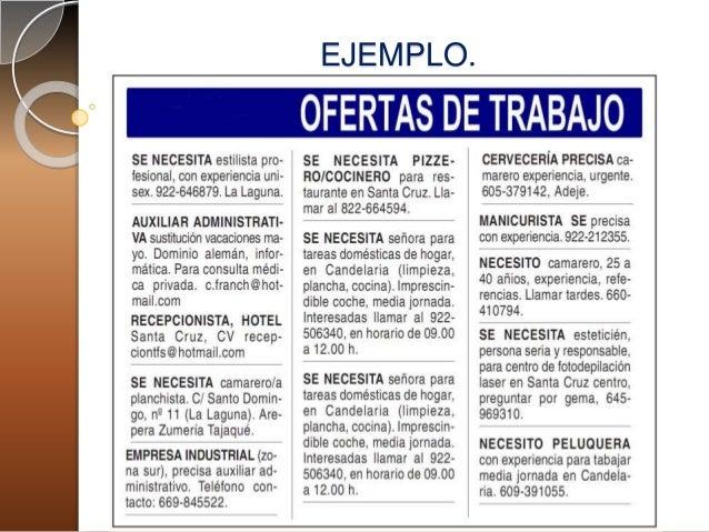 Descripci n del puesto y oferta de trabajo alejandra for Ofertas de empleo en la linea