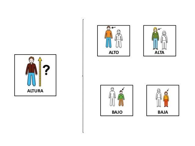 ALTURA ALTO ALTA BAJO BAJA