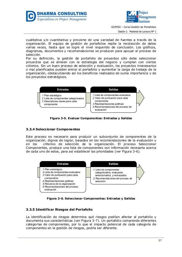 GOP050 – Curso Gestión de PortafoliosSesión 1: Material de Lectura Nº 137cualitativa y/o cuantitativa y proviene de una va...