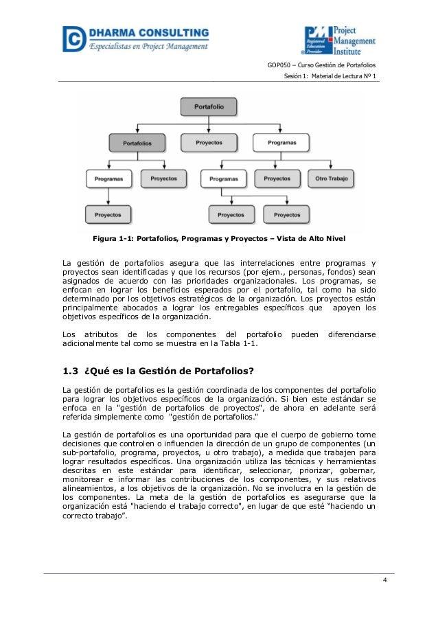 GOP050 – Curso Gestión de PortafoliosSesión 1: Material de Lectura Nº 14Figura 1-1: Portafolios, Programas y Proyectos – V...
