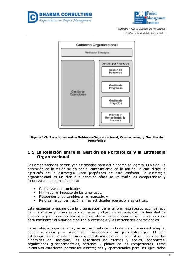 GOP050 – Curso Gestión de PortafoliosSesión 1: Material de Lectura Nº 17Figura 1-2: Relaciones entre Gobierno Organizacion...