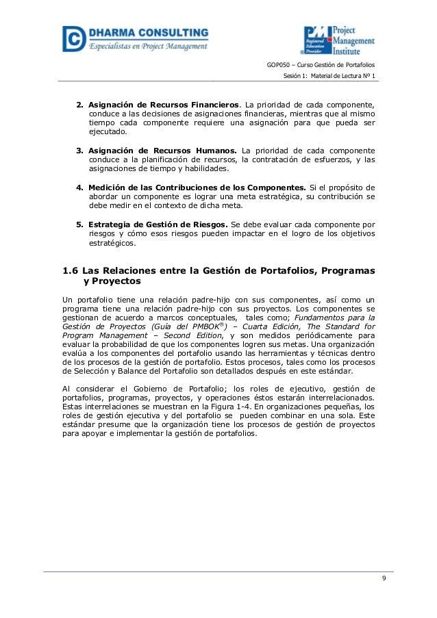 GOP050 – Curso Gestión de PortafoliosSesión 1: Material de Lectura Nº 192. Asignación de Recursos Financieros. La priorida...