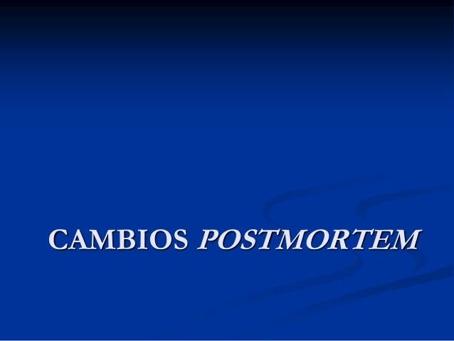 CAMBIOS POSTMORTEM