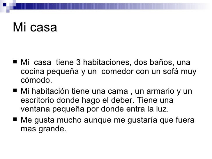 Descripciones i for Descripcion de una cama