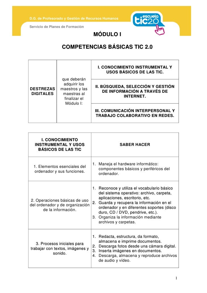 D.G. de Profesorado y Gestión de Recursos Humanos  Servicio de Planes de Formación                                     MÓD...