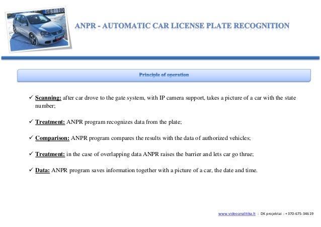 ANPR/LPR license plate recognition Slide 2