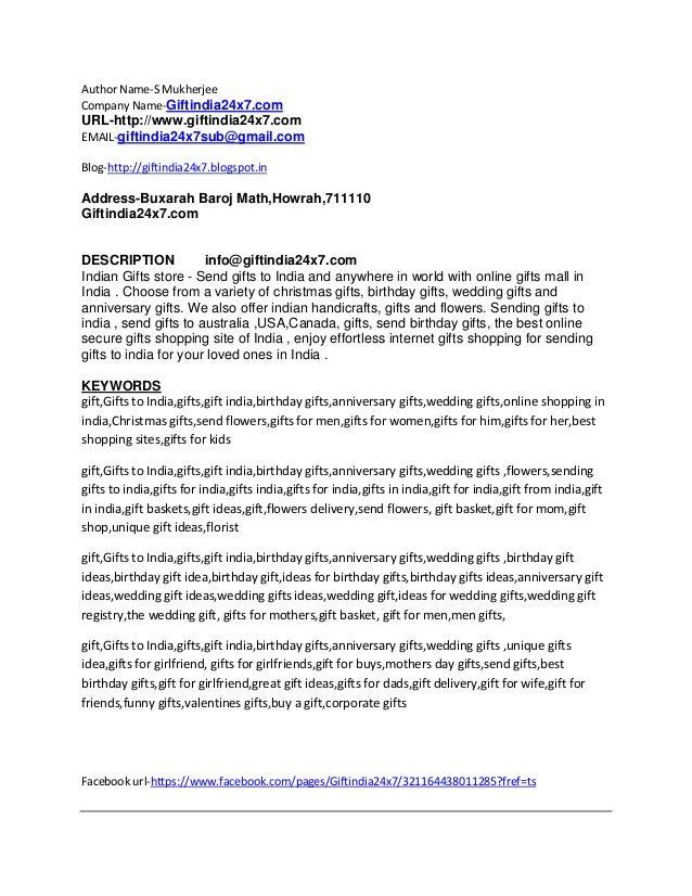 Description Keywords For Gift Sites New 28092012