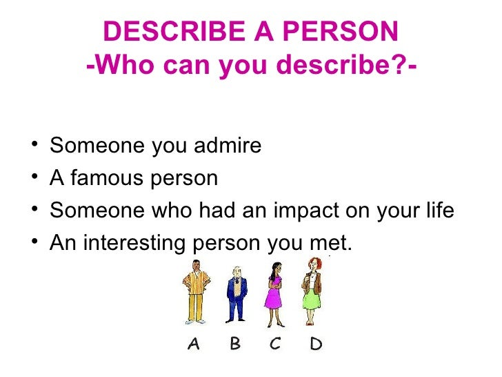 description of a person describe a person 4
