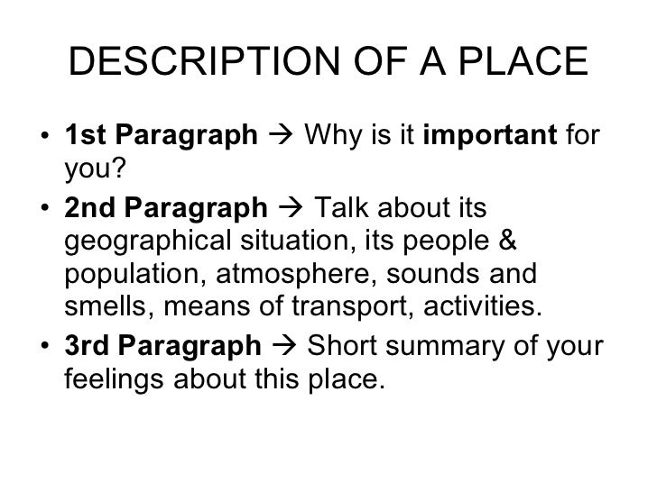 Description of a place 2 nd unit