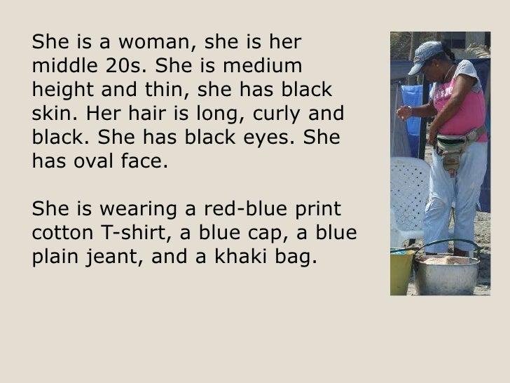 a description in some sort of person