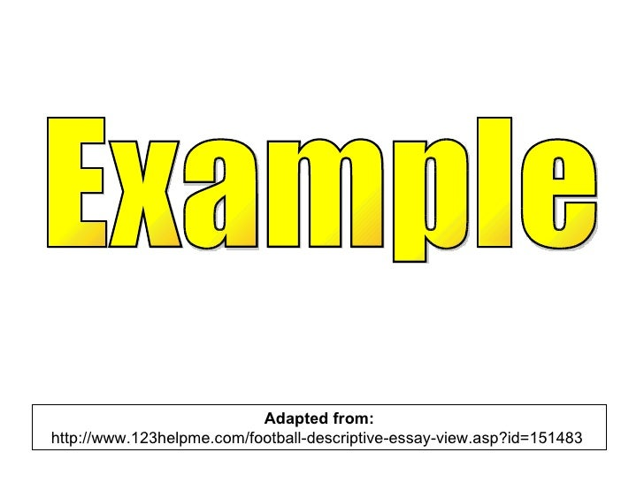 Descriptive essay 123helpme