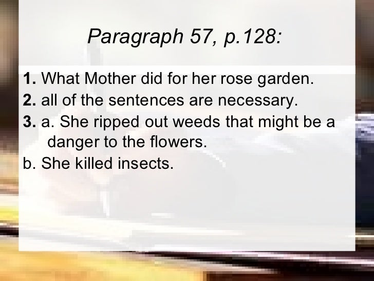 descriptive paragraph garden On the other hand, in some ways, writing descriptive essays is easier because they are more personal, and you have to do less research on your topic to write an impressive descriptive essay , keep the following tips in mind:.