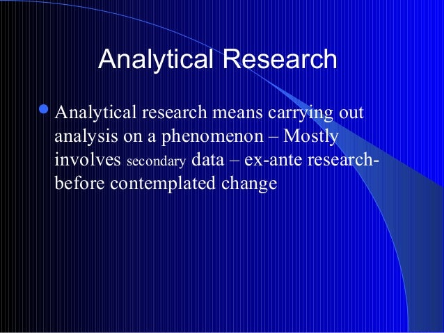 analytical analysis meaning