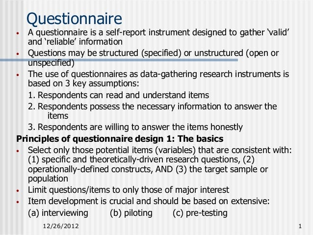 Descriptive design questionnaire for Home decor questionnaire