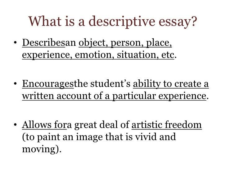 object description essay example