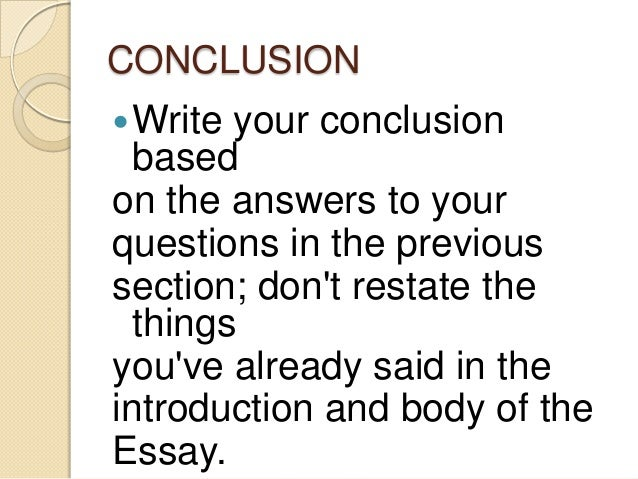 descriptive essay conclusion  write