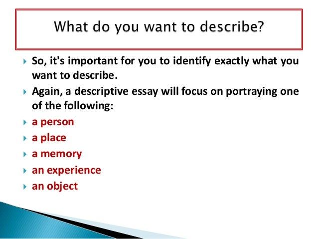 descriptive essay 3